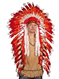 Feather Headdress of Big Chief Red Indian adult (gorro/ sombrero)