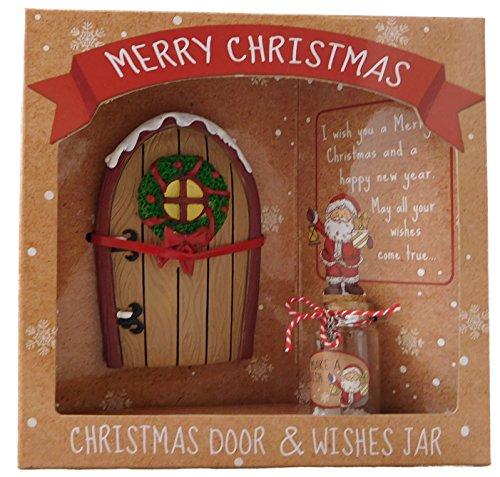 KT Natale Porte & Wishes Jar - Regalo Speciale di Natale - Stocking Fillers - Secret Santa - Decorazioni di Natale