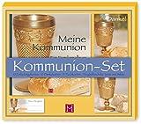 Kommunion Set: 1 Kommunionbuch, 10 Einladungs- & 10 Dankkarten, 15 Tischkarten