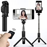 Bluetooth Selfie Stick Tripod Portable Wireless BT3.0 Control Monopod Handheld For Mobilephone Black Huawei Honor AF15 for iO