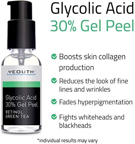 Ácido Glicólico Peeling Químico Profesional 30% de con Retinol -  1fl oz Yeouth