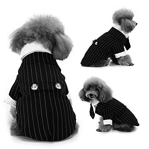 CplaplI Haustier-Kleidung, modisch, gestreift, für Welpen, Hunde-Krawatte, Smoking für Hochzeiten, Partys und ()