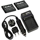 MaximalPower FC500 NIK ENEL19 Travel Charger and Replacement Battery for Nikon EN-EL19