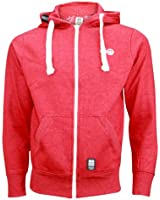Men Crosshatch Blowthorugh Chuncky Drawstring Fleece Hooded Sweatshirt