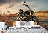 Motorrad Vlies Fototapete Fotomural - Wandbild - Tapete - 254cm x 184cm / 2 Teilig - Gedrückt auf 130gsm Vlies - 11727V4 - Autos & Transport