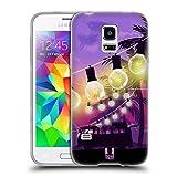 Head Case Designs Palmbaeume Sonnenuntergang Sammlung Soft Gel Hülle für Samsung Galaxy S5 Mini