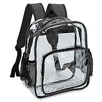 Transparent Top Loader Backpack School Bag Clear Rucksack with Adjustable Padded Straps