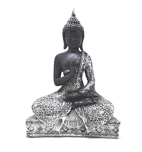 Figura tailandesa de Buda Argentum 26 CM Buda Zen Jardín Budista Jardín Budista Zen 25cm Buda Bouddha budda