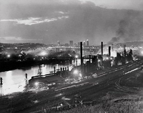 Jones & Laughlin Steel Mill Pittsburgh Pennsylvania USA Poster Drucken (60,96 x 91,44 cm)