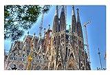iRocket interior Suelo Alfombra/Alfombrilla-la Sagrada Familia de Gaudi en Barcelona hdr (23.6'x 15.7', 60cm x 40cm)