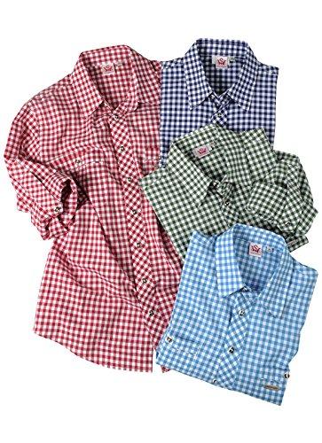 Michaelax-Fashion-Trade -  Camicia classiche  - A quadri - Classico  - Maniche lunghe  - Uomo D. Rot (2286)