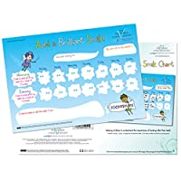 Add a Brilliant Smile Reward Chart for 3 yrs+ - Tooth brushing dental reward chart. Large laminated chart to educate and help children understand the importance of healthy teeth (420 x 297mm)