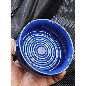 happygirr Rasierseifenschale Keramik mit großem Fassungsvermögen Glatte Bruchsicherer Rasiermug leicht zu reinigende Schale für Männer manuelle Rasur Durchmesser 11cm