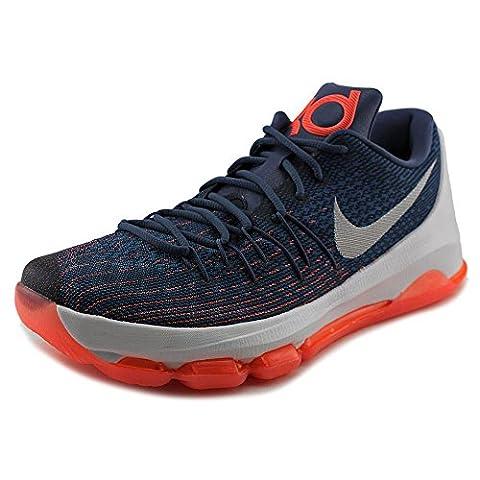 Nike Men's KD 8 Basketball Shoes, Azul / Blanco / Naranja (Ocean Fog / White-Mid Nvy-Pht Bl), 9