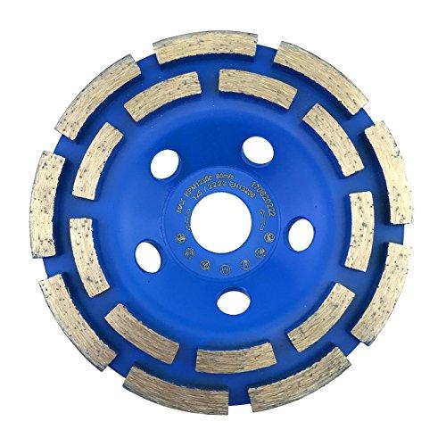 PRODIAMANT mola a tazza diamantata standard 125 mm x 22,2 mm per calcestruzzo, muratura, pietra a doppia fila mola a tazza diamantata 125 mm'quick & fast'.