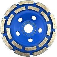 """Muela de copa diamante 125 mm x 22,2 estándar para hormigón, mampostería, piedra. Muela de copa diamante de doble rodadura 125 mm """"rápido y eficaz"""""""