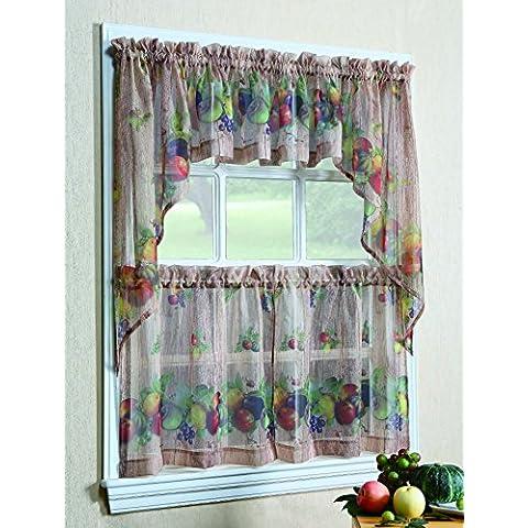 No. 918 Autumn Kitchen Curtain Swag Valance, 60 by 38 inch, Multi by S. Lichtenberg
