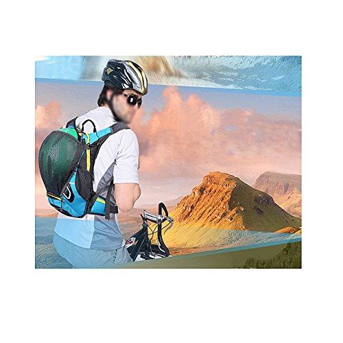 Snail Shop 15L Impermeabile Outdoor equitazione zaino zaino Campeggio escursionismo borsa da viaggio 5colori, Blue Orange