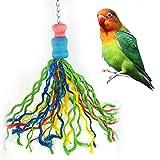 Colorful Gewinde Birds Kauen Bite Spielzeug für Vogel Papagei African Greys Wellensittich Kakadus Sittiche Nymphensittiche Aras Unzertrennliche Kanarien Käfig zum Aufhängen Decor Pet Zubehör