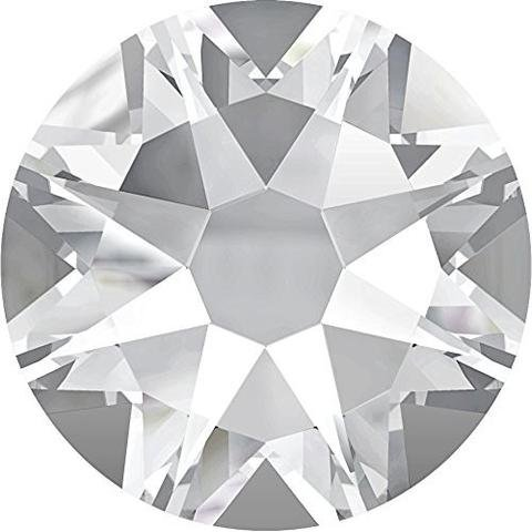2058 Crystal (Zipperstop Swarovski Crystal Flat Backs/Rhinestones SS10(2. 8mm) Crystal Clear Non-No HOTFIX Pack of 1440 Crystals Wholesale Genuine #2058 Xilion Rose)