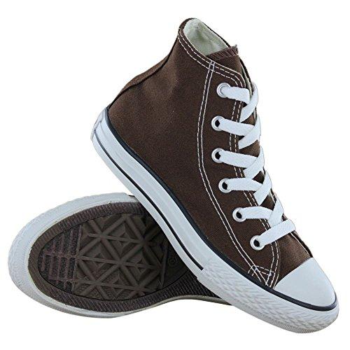 Converse Donna As Hi Can Chocolate scarpe sportive Marrone (Chocolate/Braun)