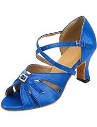 Meijili Ballroom Mujer, Color Azul, Talla 5 UK
