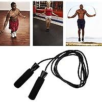 Corda per saltare–Jump Rope–Cavo ad alta velocità regolabile per allenamento aerobica esercizio fitness Boxing Speed Tranning, Black