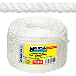 Wolfpack 16010215 Rollo cuerda multifilamento (polipropileno, 100 m x 10 mm)