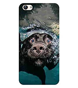 For Vivo X6 DOG, Black, Floating DOG, Printed Designer Back Case Cover By CHAPLOOS