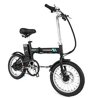 ANCHEER 20 Elektrisches Mountainbike Für Männer und Frauen, Faltbares Volle Stoßdämpfung E-Bike