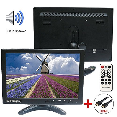 Sourcingbay 10 Inch LED IPS HD Color display screen smaller Monitor 1280800 Video Monitor display display screen USB HDMI BNC VGA Video new song enter by using universa management for PC CCTV Camera Monitors