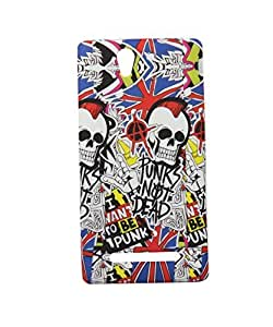 Exclusive Rubberised Back Case Cover For Sony Xperia C3 C 3 - Danger Symbol