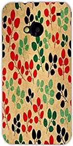 Snoogg Seamless Pattern With Leaf Designer Protective Back Case Cover For Htc...
