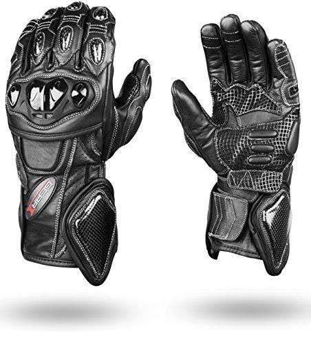 Perfekte Schutz Kohlefaser Kevlar Motorrad Leder Handschuhe - M (Kevlar-motorrad-leder)