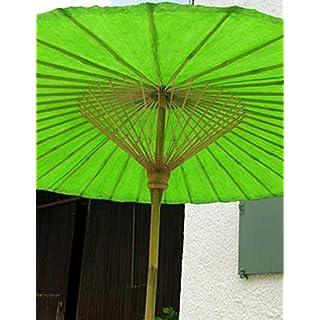 Ars-Bavaria der Extravagante Original Grüne Sonnenschirm aus Thailand, Super Robuste Bambus Qualität
