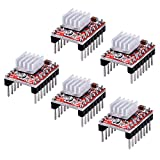 Longruner A4988 Stepstick Stepper Motor Driver Module + Heat Sink for 3d Printer Reprap (Pack of 5 Pcs)