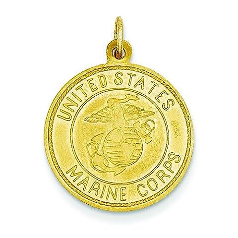 Wendbar 14 US Marine Corps. leichtes Anhänger St. Christopher - 18 x 18 mm-JewelryWeb (Christopher Us Marine)