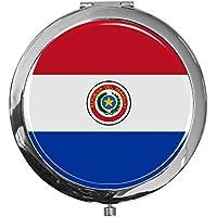 "metALUm - Extragroße Pillendose in runder Form""Flagge Paraguay"" preisvergleich bei billige-tabletten.eu"