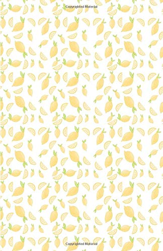Bullet Journal: Cute Yellow Pastel Lemons Fruits Doodles, Dotted Grid, (5.5 x 8.5)