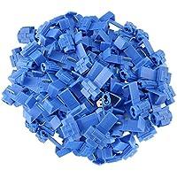 FULARR 50Pcs Scotch Lock Conector Kit, Conectores Empalme Eléctricos, Conector Rama Conector Lock, Rápido Terminales de Empalme Crimp Electrical, para Cable 1.0-2.5mm² / 18-14 AWG –– Azul