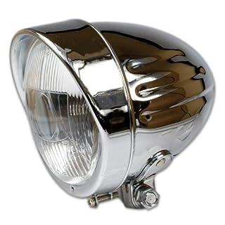 Motorrad Fernscheinwerfer Indian-Style, 4 1 / 2' H3-Einsatz, E-geprüft
