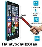 HandySchutzGlas Verre de protection en verre trempé dureté 9H, 0,26mm, protection d'écran pour Microsoft Lumia 640 XL (5,7 pouces)