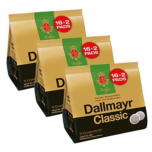 Dallmayr Classic Kaffeepads, für alle Pad Maschinen, Röstkaffee, Sanft, 48 + 6 Pads, á 6.9 g