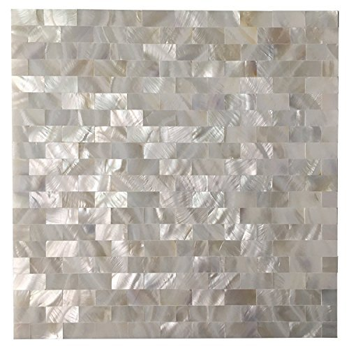 Art3d Peel And Stick Mother Of Pearl Shell Mosaic Tile For Kitchen  Backsplashes, 12 X