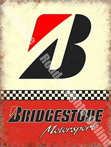 RKO Bridgestone B Motorsport Pneumatici Auto da Corsa Garage Metallo/insegna in Acciaio - 30 x 40 cm
