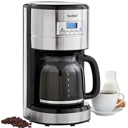 VonShef-Digital-Filter-Coffee-Maker-Programmable-with-24-Hour-Timer-Reusable-Filter-Hot-Plate-14-Cup-Capacity