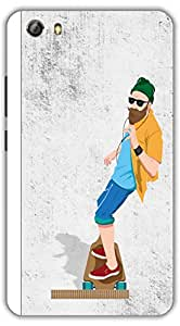 Crazy Beta BEARDMAN ON SCATING 3D DESIGN Printed Back Cover For Gionee M5 Lite Marathon