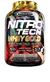 MuscleTech NitroTech Whey Gold, 100% reines Whey Protein, Whey Isolate und Peptide, Cookies & Cream, 2510 g
