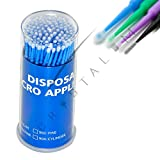 Disposable Eyelash Extensions Micro brushes Microblading Tattoo Swab by CRYSTALUM 4 Types (Regular)