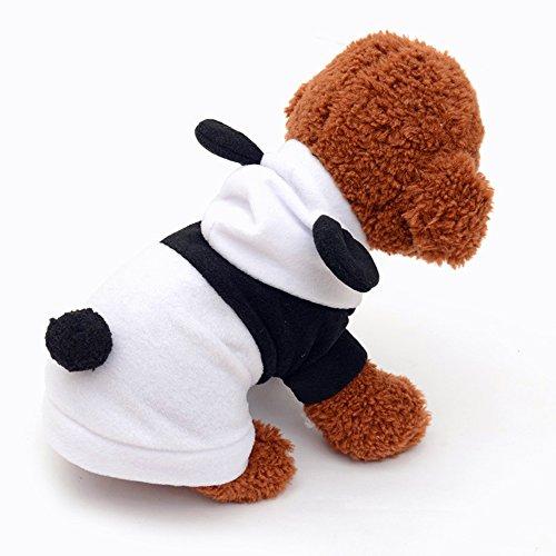 Pet Hund Kleidung Herbst & Winter Warm Fleece Mantel 2Beine mit Mütze und Ohren Cute Panda schwarz & weiß Haustier Kleidung Neotrims für kleine Hunde Welpen Katzen (Ärmelloses Eagle)